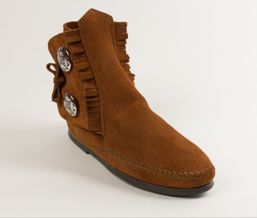 TWO BUTTON HARDSOLE BOOT / brown