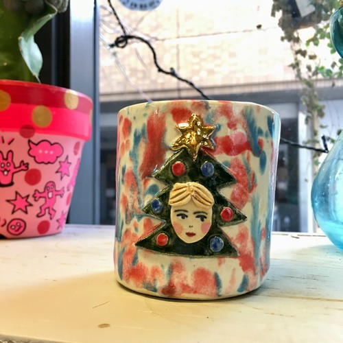 Koyomi Yanagimoto Christmas boy flower pot