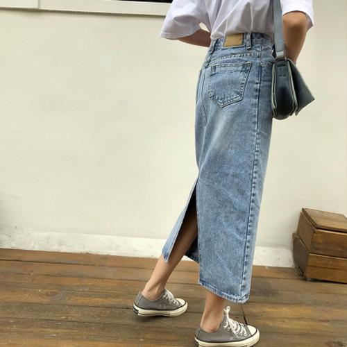 【即配】デニムロングタイトスカート