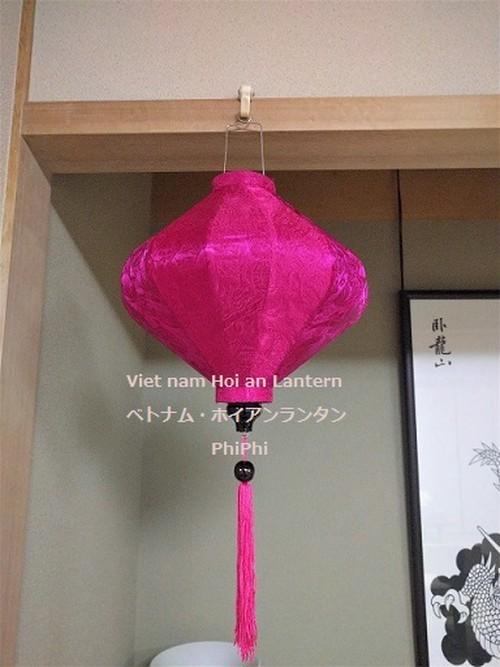 ベトナムランタン・ホイアンシルク提灯・イベント・お祭り・インテリア Hishi35 PK