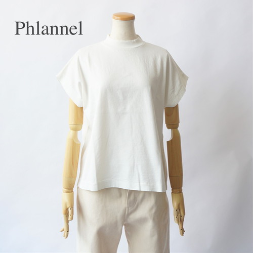 PHLANNEL SOL/フランネル・Cotton Open-end Yarn French-sleeve T-shirt