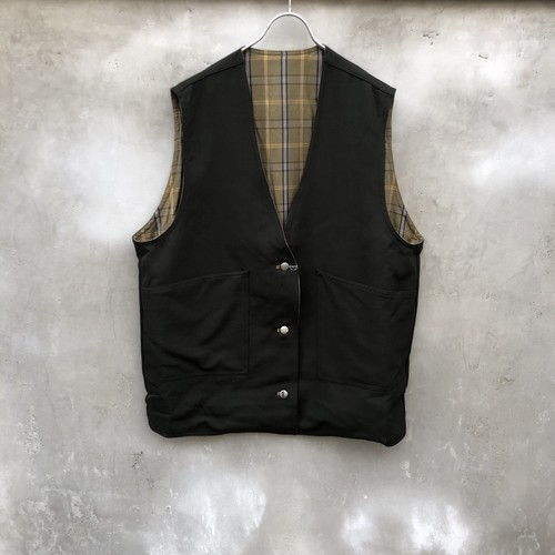 "HOMELESS TAILOR  ""riversible vest"""