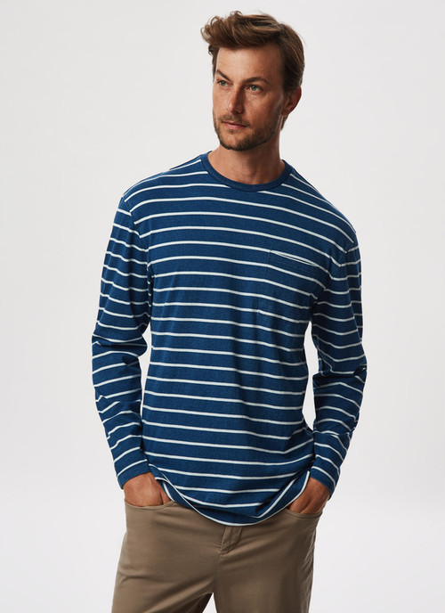 LONG-SLEEVED T-SHIRT WITH BRETON STRIPES