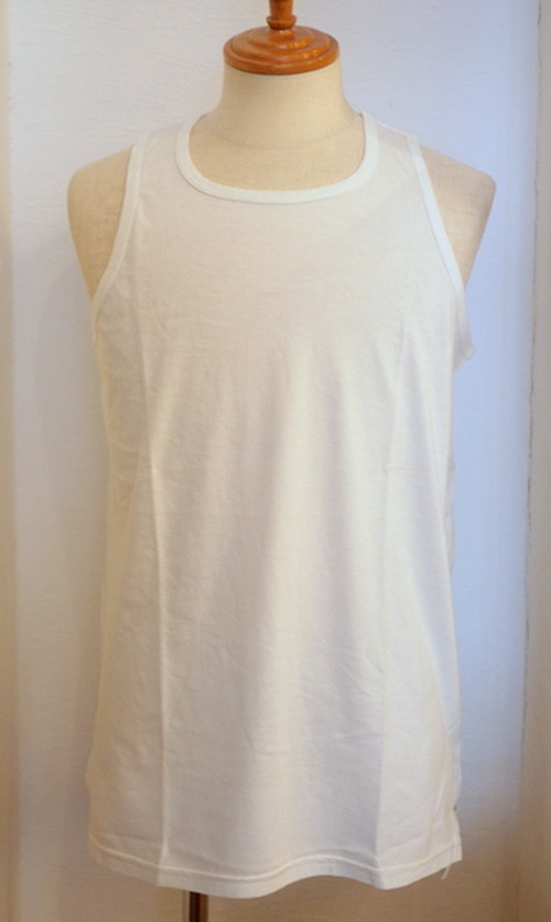 Long Length Tank Top(Flat) White