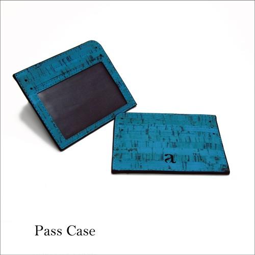 VEGAN ID CARD CASE TEAL / パスケース ティール コルク製