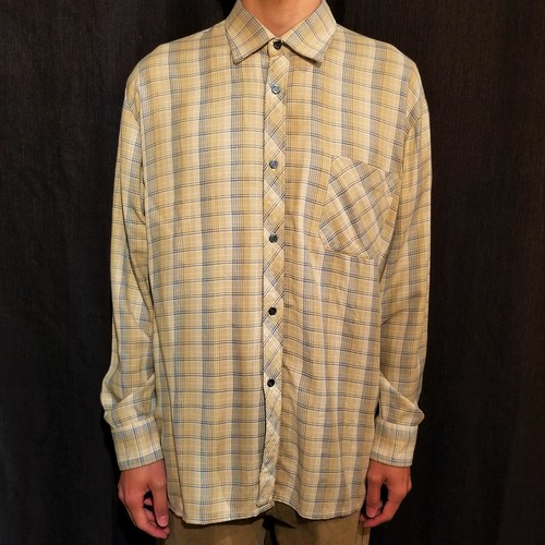 Check pattern shirt /Made In DDR [G-886]
