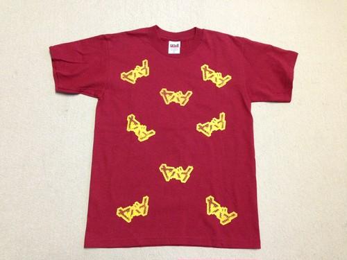 ヤバイまみれTシャツ 赤 サンプルセール品