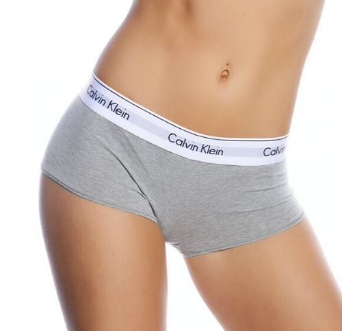 Calvin Klein Women Modern Cotton Logo Boyshort Grey