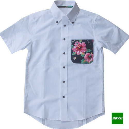 SAIKICKS ALOHA POCKET OXFORD LADY'S SHIRT