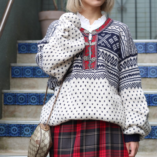 USA VINTAGE TYROLEAN KNIT/アメリカ古着チロリアンニット