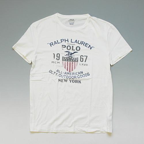 【メール便対応】POLO RalphLauren ポロ・ラルフローレン ヴィンテージテイスト グラフィックTシャツ ホワイト