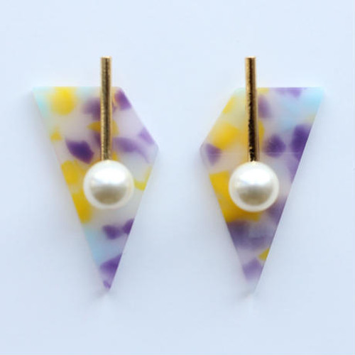 candy chip yellow ピアス