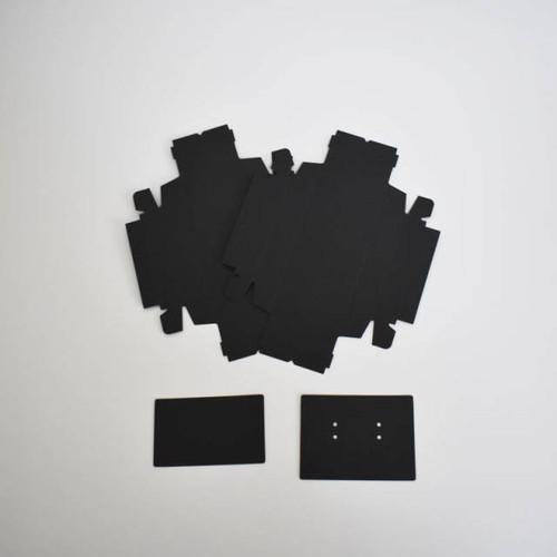 アクセサリー用小箱 名刺サイズ 黒 10枚入