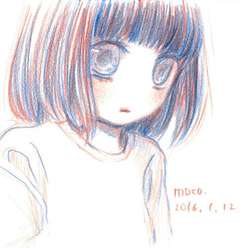 赤青鉛筆ドローイング 11