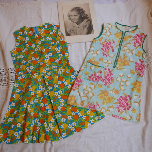 French 60's Kids Dress 2pairs