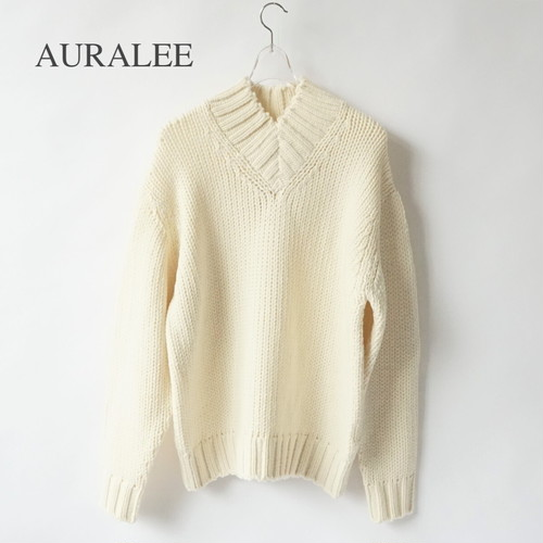 AURALEE/オーラリー ・SUPER FINE WOOL AIRY KNIT V-NECK P/O