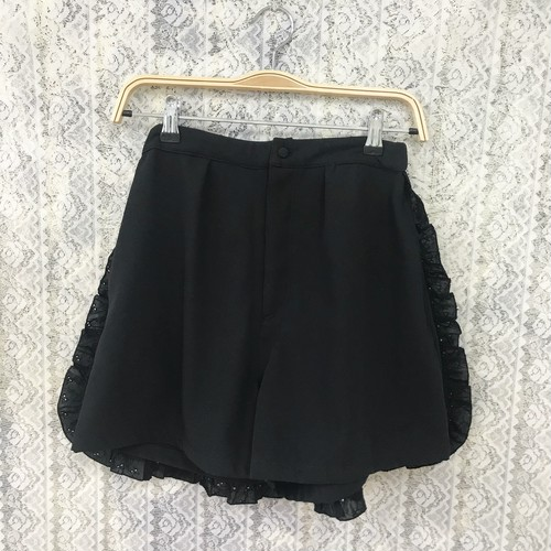 apron culottes pants〈black〉