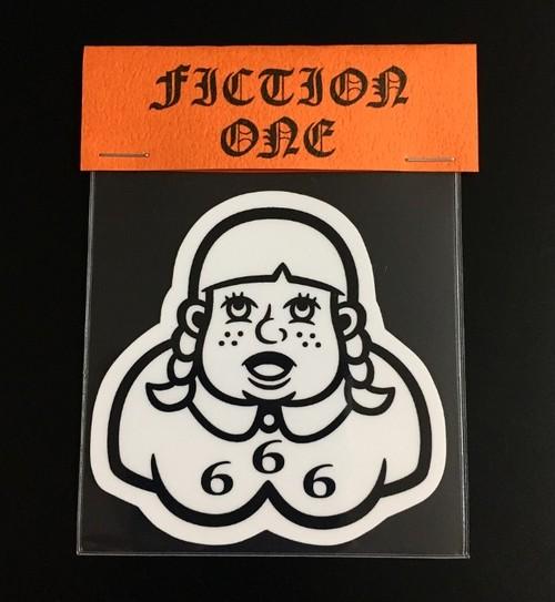 666 GIRL STICKER