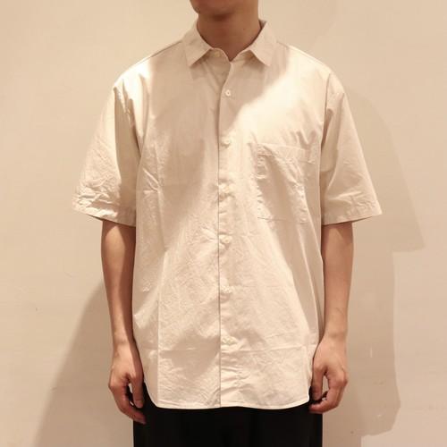 【MANUAL ALPHABET】 LOOSE FIT REGULAR COLLAR S/S SHIRT (2色展開) マニュアルアルファベット レギュラーカラー 半袖シャツ