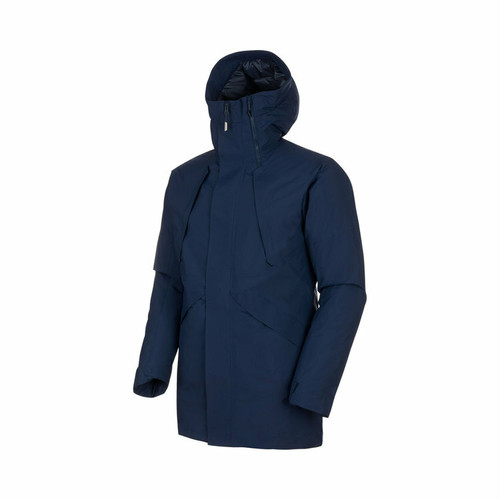 【MAMMUT】Delta X - ZUN HS Thermo Hooded Parka AF Men:ネイビー peacoat