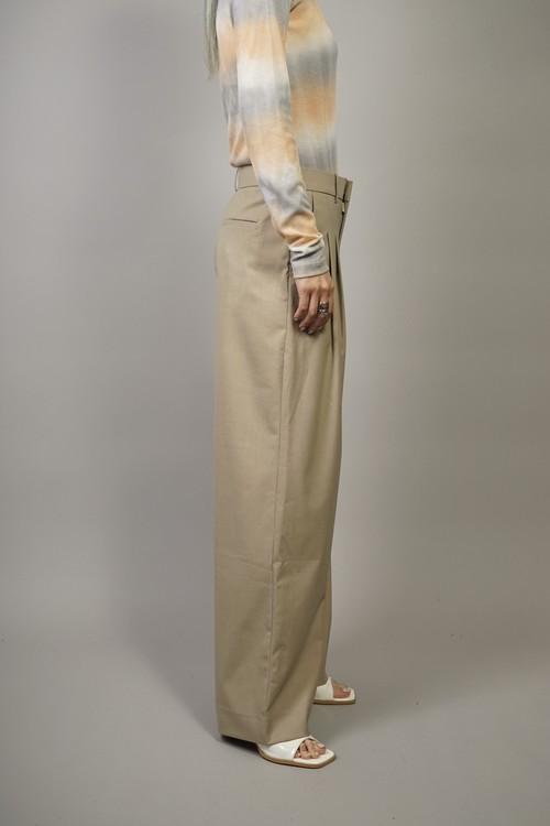 TUCK PANTS (BEIGE) 2104-64-1016