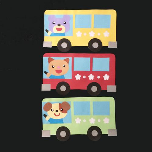 バスの壁面装飾(3個セット)