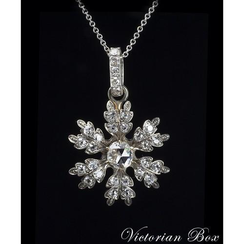 Turn of the Century Diamond Snowflake Pendant