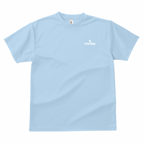 GLIMMER ドライTシャツ ワンポイント(ライトブルー)