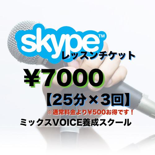 Skypeボーカルレッスン【25分×3回】