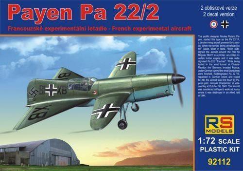 1/72 Payen ペイエン Pa 22/2  こんな飛行機ですがテスト飛行成功してます。