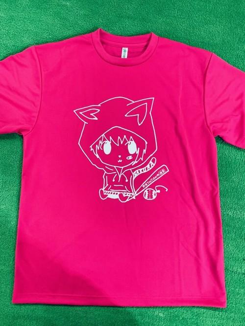 野球YouTuber2ch+こかい コラボTシャツ(ホットピンク)