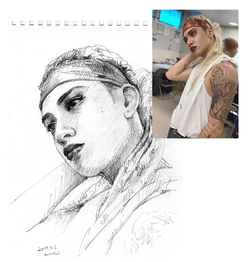 Pencil Drawing Discount for Instagramer(delivery only jpg data)