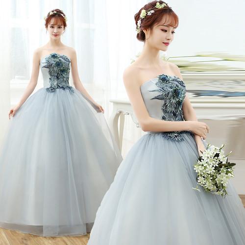 8012カラードレス ロングドレス 結婚式二次会 発表会 披露宴 演奏会 大きいサイズ  小さいサイズ
