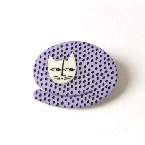 K-Formブローチ(まる猫:カラー)
