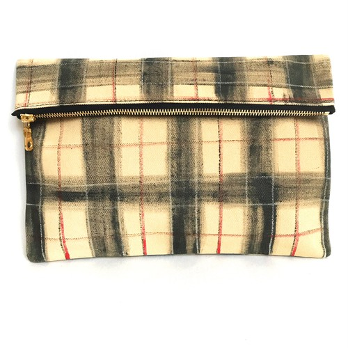 Tartancheck Clutch Bag 《j》
