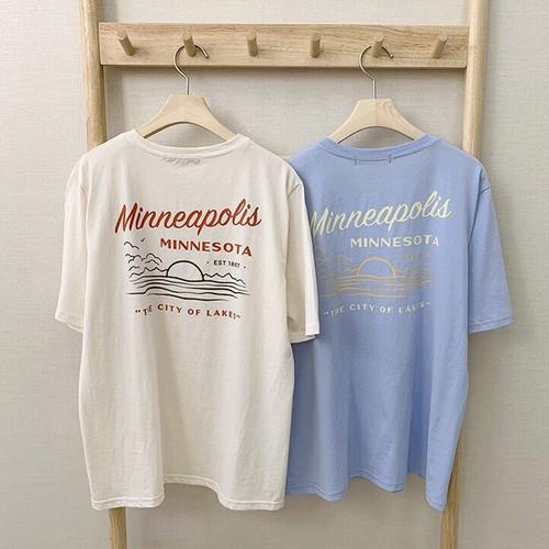 【トップス】ファッションアルファベット半袖Tシャツ