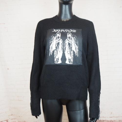 スカルパッチニットセーター