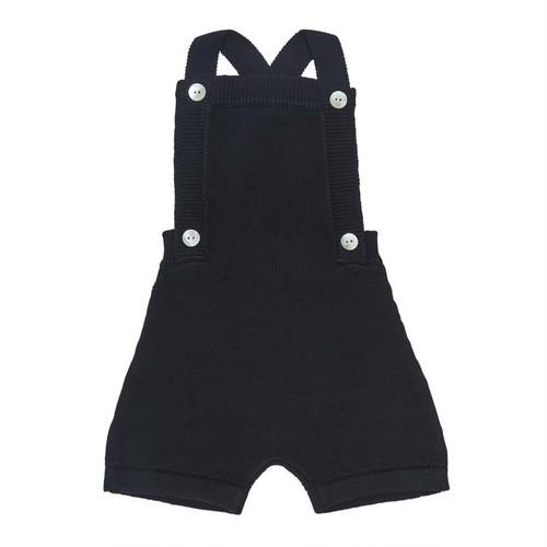 ニットショートサロペット 『FUB』2021SS ネイビー Baby Shorts,  dark navy GOTS
