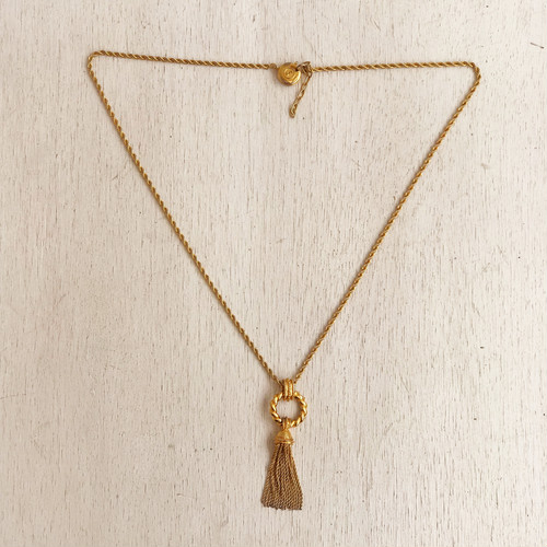 SONIA RYKIEL gold tassel necklace
