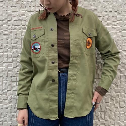(LOOK) wappen military shirt jacket