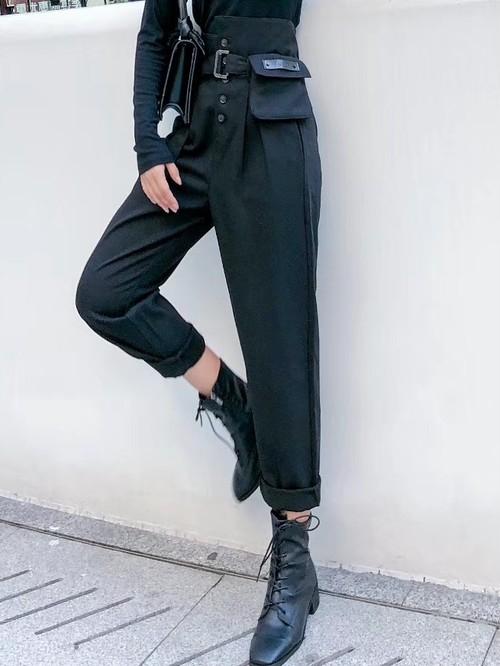 フィットハイパンツ ハイパンツ ハイウェスト 韓国ファッション