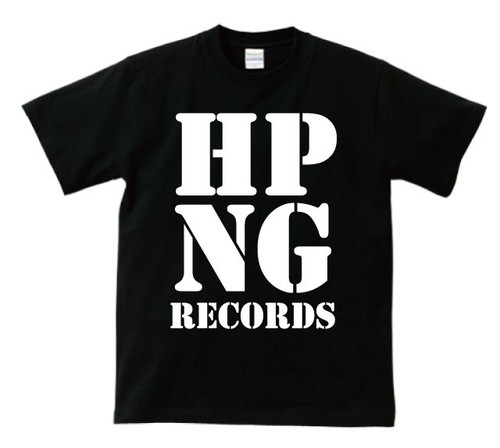 HOPPING RECORDS OFFICIAL T-SHIRT(黒ボディー)