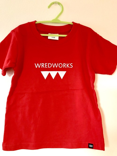 WRED WORKS T-Shirt 赤 110cm 1点のみ