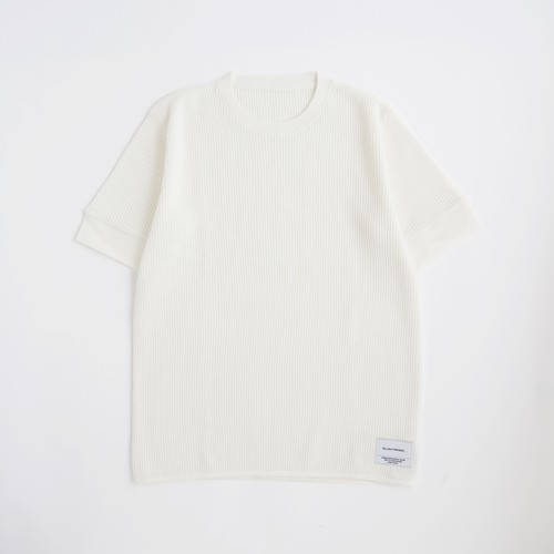 THE INOUE BROTHERS/Waffle T-shirt/White