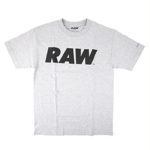 RAW LOGO PRIMARY TEE GREY