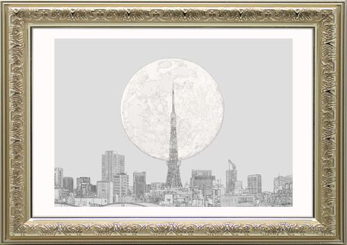 TOKYO  イシヅカイラスト -A2額縁/金-