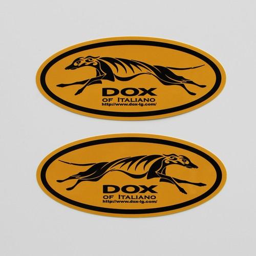 DOX of Italiano ステッカー( YELLOW ORANGE × BLACK )
