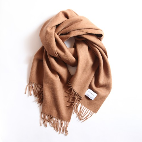 THE INOUE BROTHERS/Large Brushed  Stole/Camel