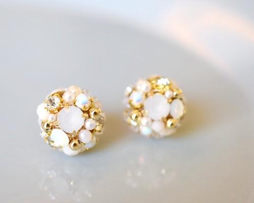 Bijou round pierce/earring