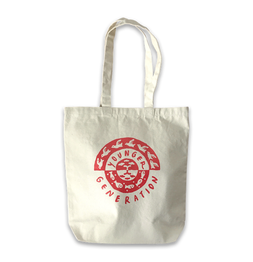 "YOUNGER GENERATION Tote Bag ""Sky&Sea""<SCARLET>"